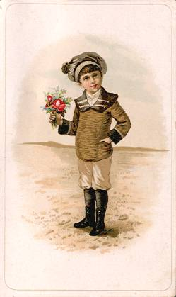 Boy with flower bouquet