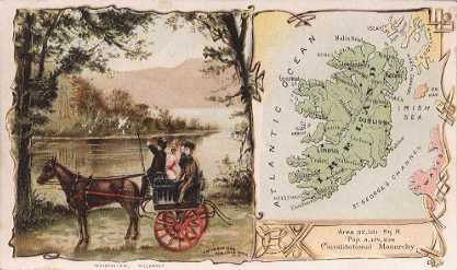 Ireland map - Innisfallen, Killarney