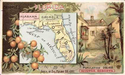 Florida map - Oranges, winter resorts
