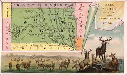 South Dakota map - Elk herd