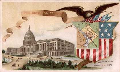 District of Columbia map - National Capitol building
