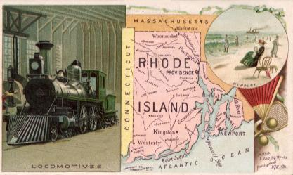Rhode Island map - Locomotives, Newport