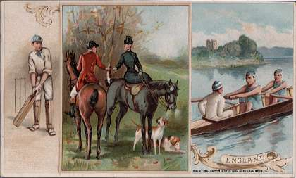 England - cricket, fox hunting, sculling
