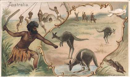 Australia - boomerang throwing, kangaroo, rabbit hunting