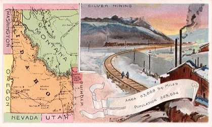 Idaho map - Silver Mining