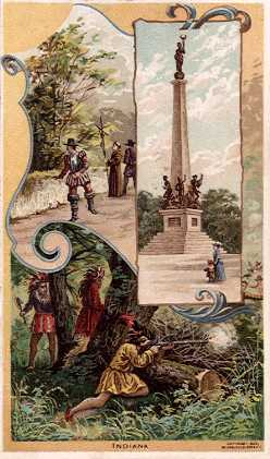 Indiana - La Salle; Soldiers and Sailors' Monument, Indianapolis; Battle of Tippecanoe
